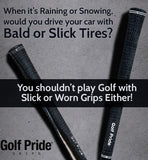 Golf Pride Tour Velvet Full Cord Black Standard 60 Ribbed