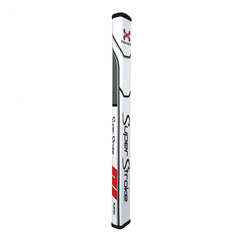 SuperStroke Traxion Flatso XL Plus 2.0 Putter Grip White/Red/Grey