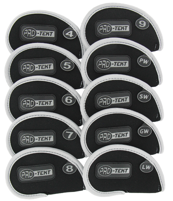 Pro-Tekt 10 Piece Iron Cover Set (Silver/Black)