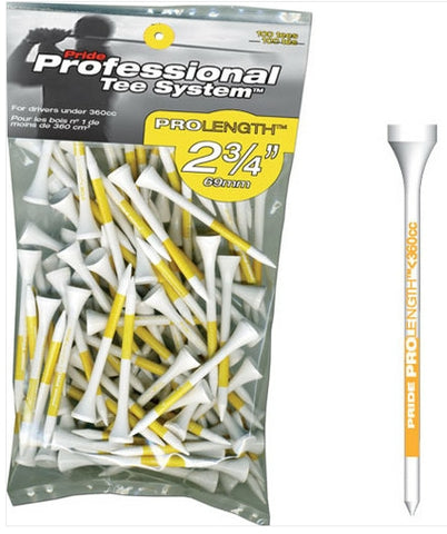 "Pride Golf Tee Co. Prolength 2 3/4"" 69mm Golf Tees"