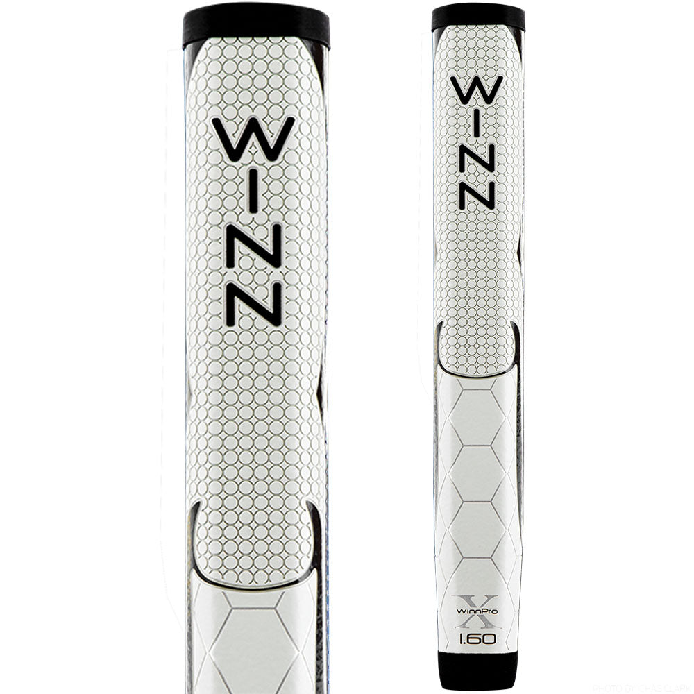 "WinnPro X 1.60"" Cool Grey/Black Putter Grip"