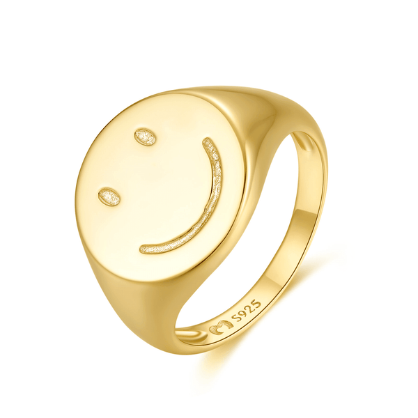 "Anillo ""Happiness"" ~ Plata de 1ª Ley - LePetiteMarie"