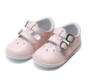 Hattie Double Velcro Buckle Leather Mary Jane