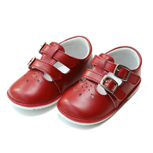 Load image into Gallery viewer, Hattie Double Velcro Buckle Leather Mary Jane