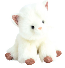 Load image into Gallery viewer, Cat Stuffed Animal with Pink Glitter Accents