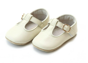 Evie Leather Girls T Strap Crib Shoe