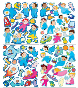 Space Adventure Stickers