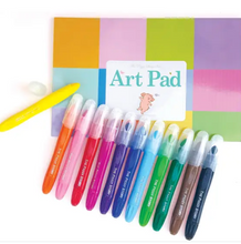 Load image into Gallery viewer, Dinosaur World Crayon Paint Stick Travel Set