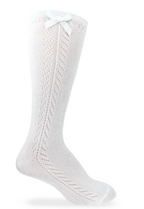 Pointelle Bow Knee Highs