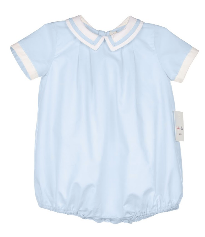 Baby Blue Bubble with White Collar