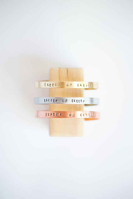 Little By Little BRANDED Cuff