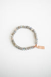 Gray Labradorite Beaded Bracelet
