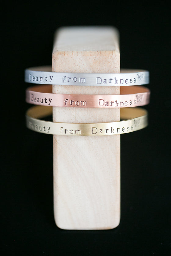 Beauty from Darkness Give-Back Cuff
