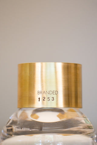 Large Brass BRANDED Cuff