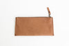 Stone leather BRANDED zippered pouch back