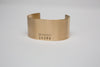 wide brass BRANDED cuff bracelet