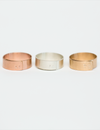 "1/4"" adjustable rings (rose gold-filled, sterling silver and yellow gold-filled)"