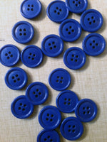 Buttons blue 20 pieces