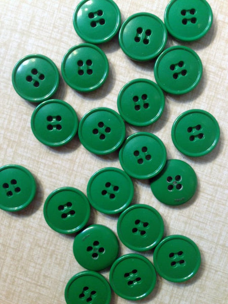Buttons green 20 pieces