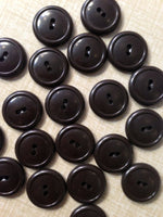 Buttons brown retro 20 pieces