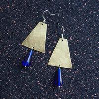 Du Sköna brass earrings