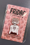 Frida Clerhage grrrl power pin