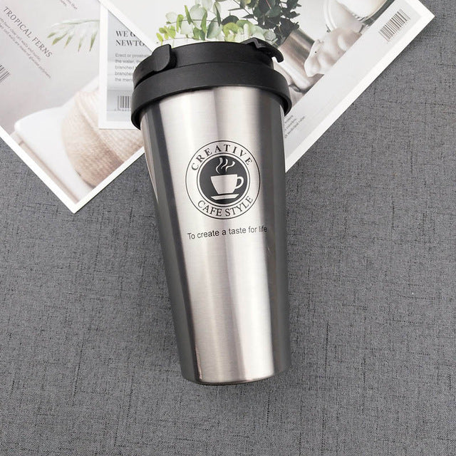 Premium Stainless Steel Travel Coffee, Tea, Milk, Hot Water Mug Vacuum Flask - 350ml