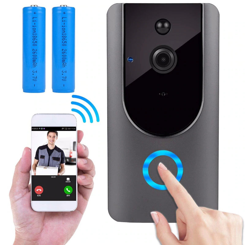 WiFi Smart Doorbell with Two-Way Audio and Night Vision