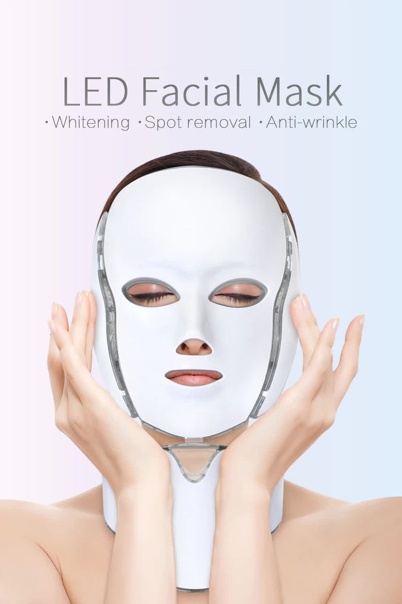 Electric LED Photon Face and Neck Mask Light Therapy
