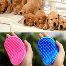 Dog Cat Bath Brush Comb Pet Hair Rubber Glove Massage - Pack of 2