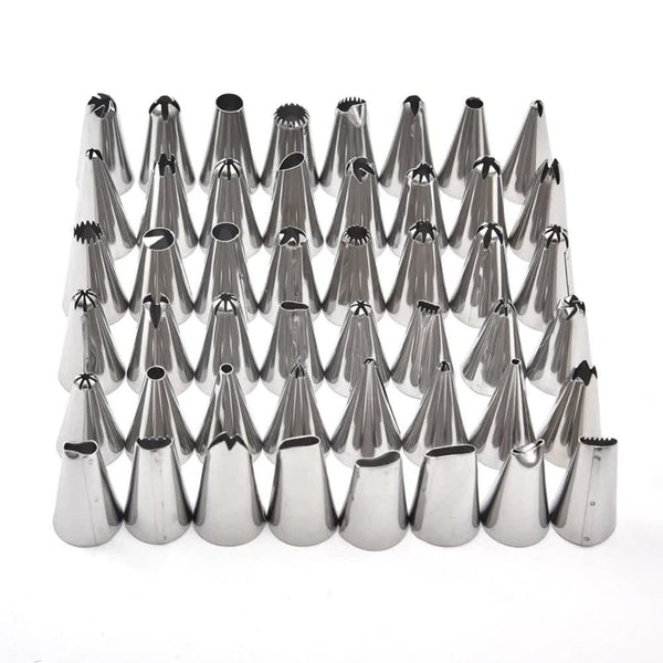 48 Pcs Stainless Steel Icing Nozzles