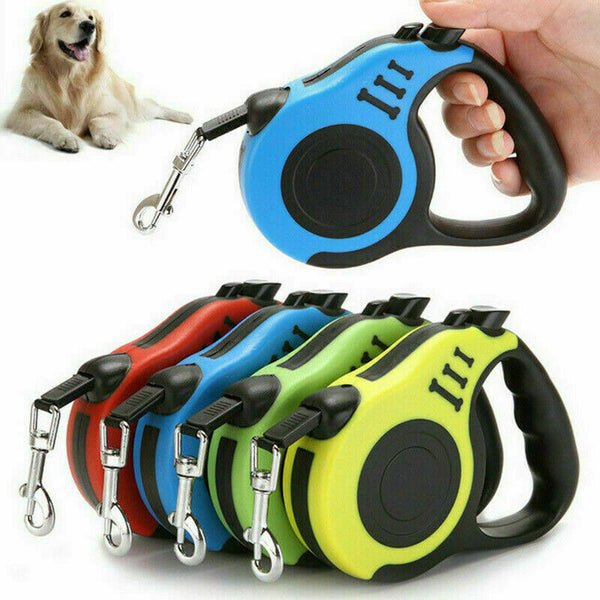 3M/5M Retractable Dog Leash Automatic Flexible Dog Puppy - Pack of 2
