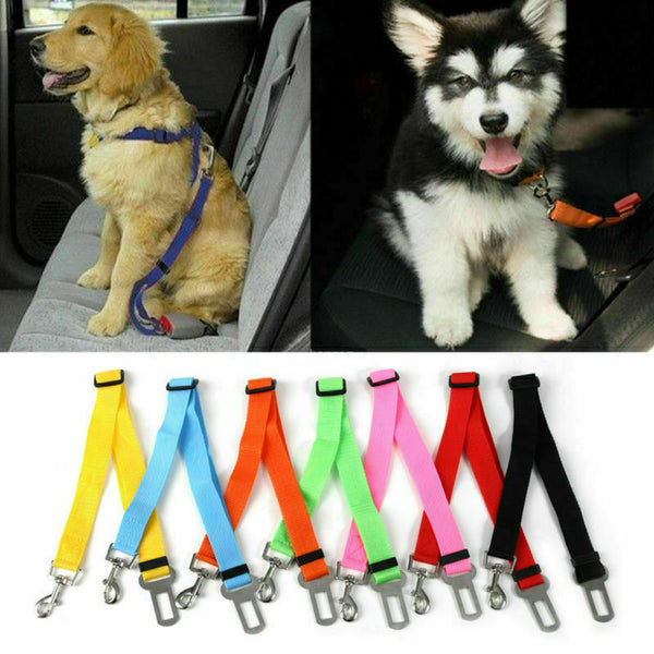Pet Dog Adjustable Travel SEAT BELT Car Safety Harnesses - Pack of 3