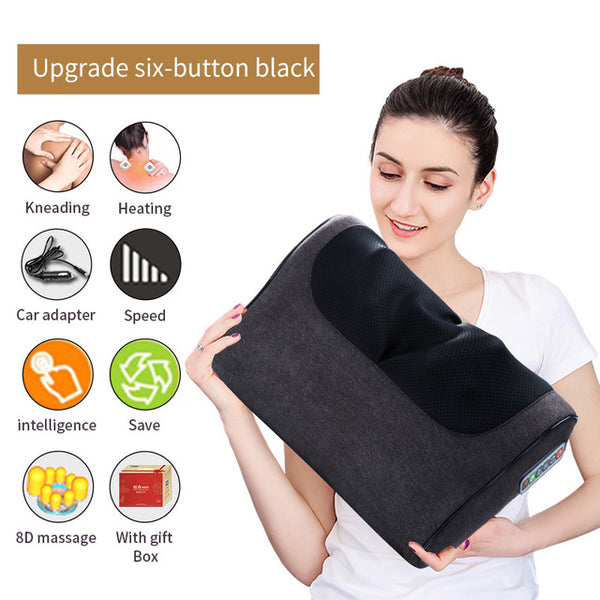 Infrared Neck Shoulder Back and Body Heating Electric Massage Relaxation Pillow