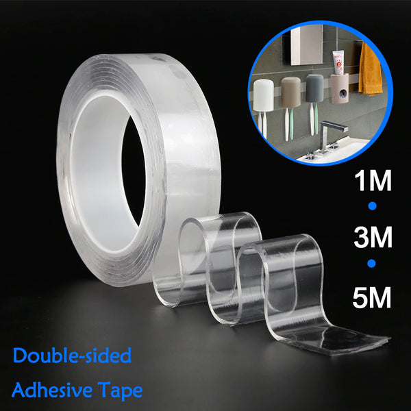 Reusable Double Sided Heavy Duty Transparent Adhesive - Pack of 2