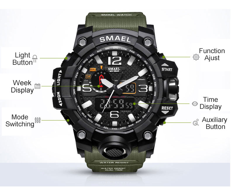 Men Luxury Sports Waterproof Military Watch