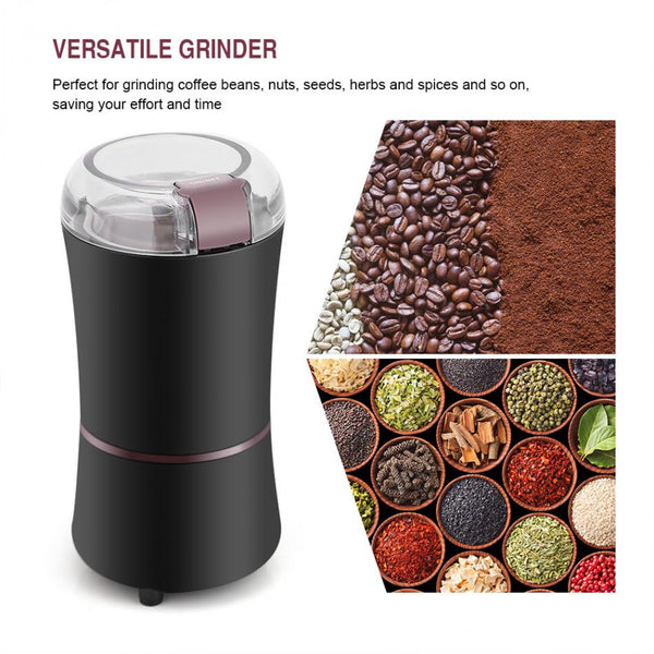 Electric Spices, Coffee, Salt, Pepper, Grain/Seed Grinder Mini Kitchen Gadget - 400W