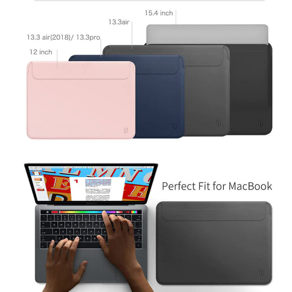 Luxury Leather MacBook Sleeve Case
