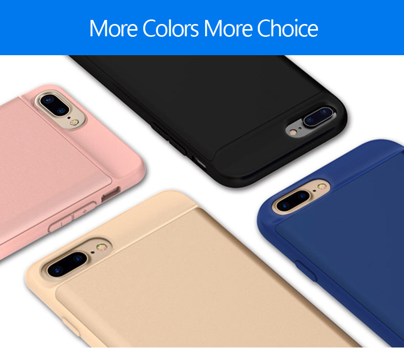 Luxury Ultra Thin iPhone Case Charger for iPhone 6, 7, 8