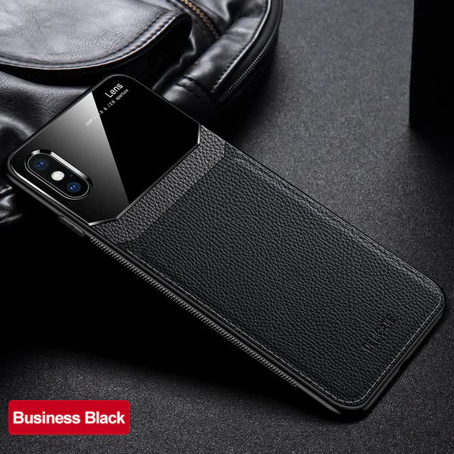 Leather and Acrylic Luxury iPhone Case