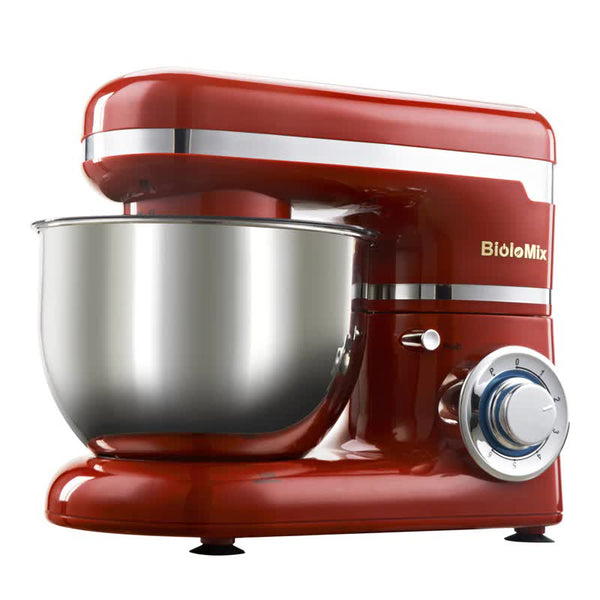1200W Powerful Stainless Steel Bowl with 6 Speed Kitchen Food Mixer