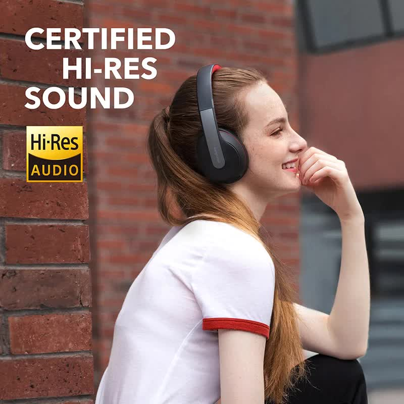 Soundcore Over Ear and Foldable Wireless Bluetooth Headphones with Hi-Res Sound
