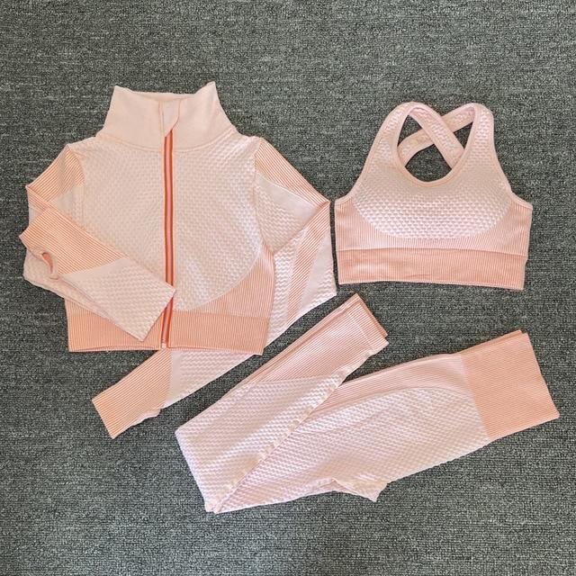 Women Seamless Full Set Sportswear for Yoga Running Gym Fitness