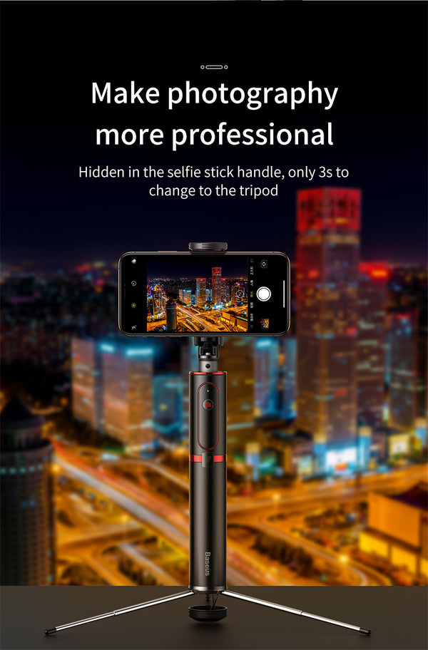 Bluetooth Selfie Stick Tripod with Wireless Remote for iPhone, Android and Huawei