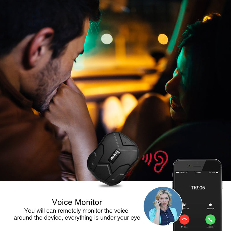 GPS Vehicle Tracker with Waterproof Magnet Voice Monitor