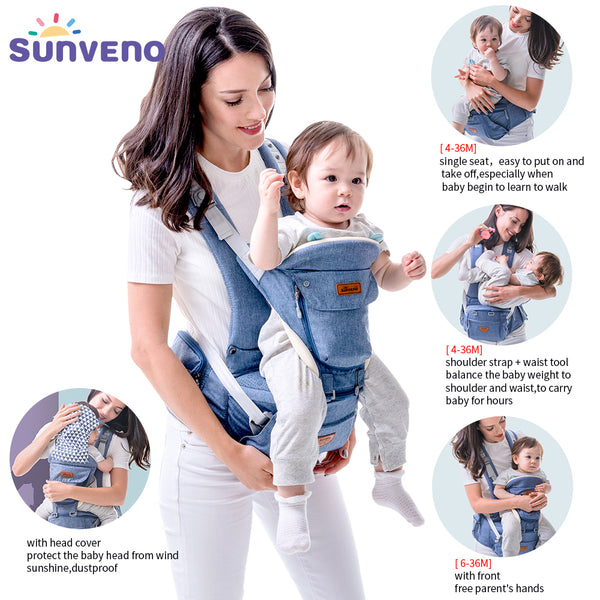 Ergonomic Baby Infant Baby Carrier and Hip-seat Waist Carrier