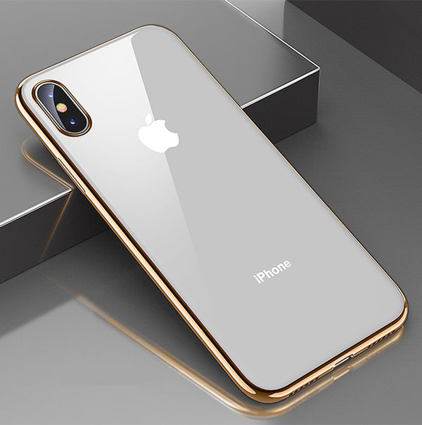 Clear Luxury iPhone Case for 7, 8, 7+, 8+, X, XS, XR, XS MAX