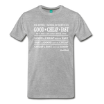 Three Kinds of Services - Graphic Tee - heather gray