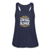 Low Ball Blonde - Flowy Tank - navy