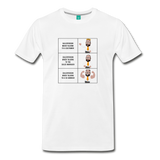 Story of a Salesperson Meme - Graphic Tee - white